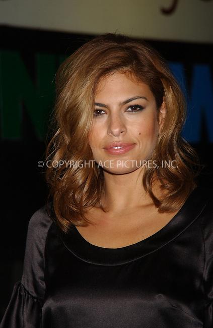 WWW.ACEPIXS.COM . . . . . ....December 2nd, 2006, New York City. ....Eva Mendes attends the 'Pursuit of Happiness' Screening. ....Please byline: KRISTIN CALLAHAN - ACEPIXS.COM.. . . . . . ..Ace Pictures, Inc:  ..(212) 243-8787 or (646) 769 0430..e-mail: info@acepixs.com..web: http://www.acepixs.com