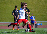 Action from the 2018-19 ISPS Handa Premiership football match between Wellington Phoenix Reserves and Canterbury United Dragons at Newtown Park in Wellington, New Zealand on Sunday, 11 November 2018. Photo: Dave Lintott / lintottphoto.co.nz