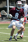 Orange, CA 05/01/10 - Hayden Fulstone (LMU # 8) in action during the LMU-Chapman MCLA SLC semi-final game in Wilson Field at Chapman University.  Chapman advanced to the final by defeating LMU 19-10.