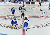 WINKLER, MB– Nov 8 2019: Game 16 - Team Alberta v Team British Columbia during the 2019 National Women's Under-18 Championship at the Winkler Arena in Winkler, Manitoba, Canada. (Photo by Matthew Murnaghan/Hockey Canada Images)