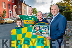 Kerry's Eye All Ireland Ticket winners Tommy O'Donoghue, Moyvane with his son Darragh and Diarmuid Kearney, Currow with Brendan Kennelly, Kerry's Eye.