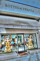 Bottega Veneta, Rodeo Drive, Luxury Shopping, Window Display, Beverly Hills, CA, , Vertical image