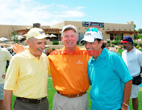 Dennis Hopper, Dan Quayle and Alice Cooper at the 9th Alice Cooper Golf Tournament in Scottsdale to benefit his Solid Rock Foundation Charity, May 2nd 2005. phoo by Chris walter/Photofeatures.