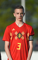 20180417 - TUBIZE , BELGIUM : Belgian Amine Et Taibi pictured during the friendly  soccer match between  under 15 teams of  Belgium and Switzerland , in Tubize , Belgium . Tuesday 17 th April 2018 . PHOTO SPORTPIX.BE / DIRK VUYLSTEKE