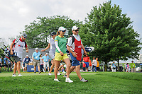 Ai Miyazato (JPN)  departs the first tee during Saturday's third round of the 72nd U.S. Women's Open Championship, at Trump National Golf Club, Bedminster, New Jersey. 7/15/2017.<br /> Picture: Golffile | Ken Murray<br /> <br /> <br /> All photo usage must carry mandatory copyright credit (&copy; Golffile | Ken Murray)