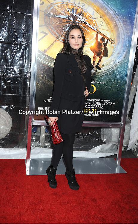 "actress Ewa da Cruz attends The World Premiere of ""Hugo in 3D"" on November 21, 2011 at The Ziegfeld Theatre in New York City."