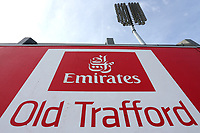 General view of the Emirates Old Trafford sign during Lancashire CCC vs Essex CCC, Specsavers County Championship Division 1 Cricket at Emirates Old Trafford on 7th September 2017