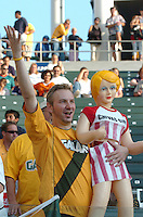 Los Angeles Galaxy's fans during the first half of the game against Chivas USA at the Home Depot Center in Carson, CA on Saturday, July 16, 2005..(Matt A. Brown/ISI)