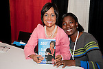 "Judge Glenda Hatchett with a fan and her book ""Dare to take Charge"" at the Eleventh Annual Texas Conference for Women"