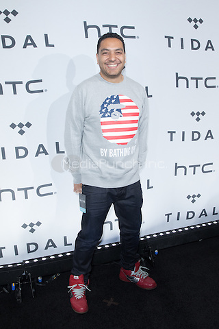 BROOKLYN, NY - OCTOBER 20: Cypher Sounds on arrivals for TIDALx1020 Concert at Barclays Center in Brooklyn, NY on October 20, 2015. Credit: Abel Fermin/MediaPunch