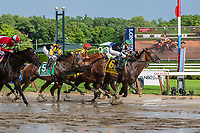 Diversify ridden by Irad Ortiz jr. wins the Whitney Stakes raace at Saratoga race track