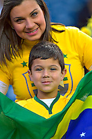 Photo before the match Brasil vs Peru, Corresponding to  Group -B- of the America Cup Centenary 2016 at Gillette Stadium.<br /> <br /> Foto previo al partido Brasil vs Peru, Correspondiente al Grupo -B- de la Copa America Centenario 2016 en el Estadio Gillette en la foto: Fans Brasil<br /> <br /> <br /> 12/06/2016/MEXSPORT/ISAAC ORTIZ