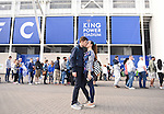 Leicester City fans from Italy, Rome, embrace each other before the Barclays Premier League match at the King Power Stadium Leicester. Photo credit should read: Nathan Stirk/Sportimage<br /> <br /> <br /> <br /> <br /> <br /> <br /> <br /> <br /> <br /> <br /> <br /> <br /> <br /> <br /> <br /> <br /> <br /> <br /> <br /> <br /> <br /> <br /> <br /> <br /> <br /> <br /> <br /> <br /> <br /> <br /> <br /> - Newcastle Utd vs Tottenham - St James' Park Stadium - Newcastle Upon Tyne - England - 19th April 2015 - Picture Phil Oldham/Sportimage