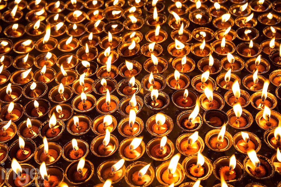 Prayer Candles at Swayambhunath, Nepal