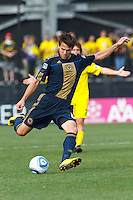 24 OCTOBER 2010: Philadelphia Union midfielder Stefani Miglioranzi (15) during MLS soccer game against the Columbus Crew at Crew Stadium in Columbus, Ohio on August 28, 2010.
