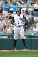 Trenton Thunder  infielder Greg Bird (37) during game against the Altoona Curve at ARM & HAMMER Park on August 6, 2014 in Trenton, NJ.  Trenton defeated Altoona 7-3.  (Tomasso DeRosa/Four Seam Images)