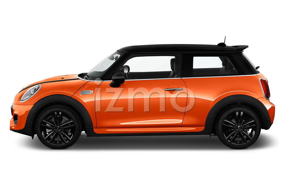 Car Driver side profile view of a 2018 MINI Cooper JCW Door Hatchback Side View