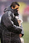 15 April 2007: New York's Dema Kovalenko tries to keep the youngster who accompanied him onto the field for pregame activities warm. The New York Red Bulls defeated FC Dallas 3-0 at Giants Stadium in East Rutherford, New Jersey in an MLS Regular Season game.