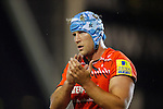 Jordan Crane in action for Leicester Tigers - Rugby Union - Leicester Tigers vs Cardiff Blues - pre-season friendly - Welford Road Leicester - 29th August 2014 - Picture - Malcolm Couzens/Sportimage