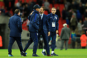 5th October 2017, Wembley Stadium, London, England; FIFA World Cup Qualification, England versus Slovenia; England Manager Gareth Southgate celebrates the 1-0 win with Dele Ali
