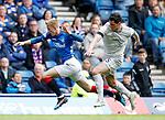 28.04.2019 Rangers v Aberdeen: Ross McCrorie fouled by Scott McKenna