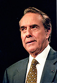 United States Senate Majority Leader Bob Dole (Republican of Kansas), a candidate for the Republican Party nomination for President of the United States, speaks at a rally in Nashua, New Hampshire on February 17, 1996.<br /> Credit: Ron Sachs / CNP