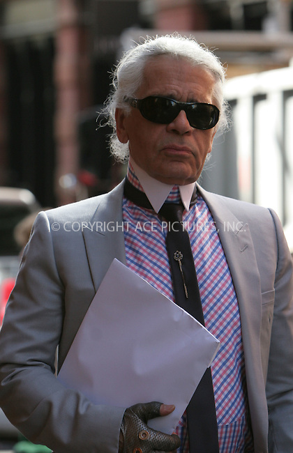 WWW.ACEPIXS.COM . . . . .  ....May 7 2007, New York City....KARL LAGERFELD....On the way to the Costume Institute at the Metropolitain Museum Gala 2007.....Please byline: NANCY RIVERA- ACE PICTURES.... *** ***..Ace Pictures, Inc:  ..tel: (646) 769 0430..e-mail: info@acepixs.com..web: http://www.acepixs.com