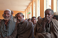 country farmers in the village month meeting exchanging experiences and problems in Mersa Ethiopia