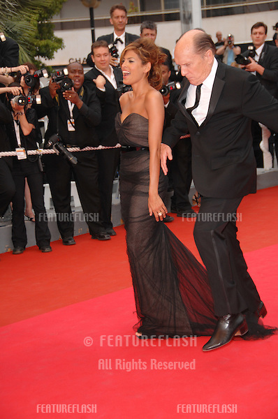 "Eva Mendes & Robert Duvall at screening for ""We Own the Night"" at the 60th Annual International Film Festival de Cannes..May 25, 2007  Cannes, France..© 2007 Paul Smith / Featureflash"