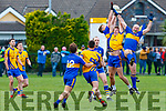 Nathan Breen Beaufort challenges Ciaran Kennedy Michael Cusacks during their Munster semi final in Beaufort on Sunday