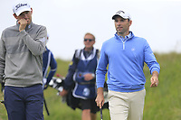 Bernd Wiesberger (AUT) and Oliver Wilson (ENG) walk off the 16th tee during Saturday's Round 3 of the Dubai Duty Free Irish Open 2019, held at Lahinch Golf Club, Lahinch, Ireland. 6th July 2019.<br /> Picture: Eoin Clarke | Golffile<br /> <br /> <br /> All photos usage must carry mandatory copyright credit (© Golffile | Eoin Clarke)