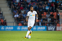 Kyle Bartley of Swansea City during the 2017/18 Pre Season Friendly match between Barnet and Swansea City at The Hive, London, England on 12 July 2017. Photo by Andy Rowland.
