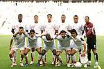 14 June 2006: Tunisia starting eleven.  Front row (l to r): Adel Chedli (TUN), Zied Jaziri (TUN), Hatem Trabelsi (TUN), David Jemmali (TUN), Riadh Bouazizi (TUN).  Back row (l to r): Radhi Jaidi (TUN), Hamed Namouchi (TUN), Karim Haggui (TUN), Yassine Chikhaoui (TUN), Jaouhar Mnari (TUN), Ali Boumnijel (TUN). Tunisia tied Saudi Arabia 2-2 at the Allianz Arena in Munich, Germany in match 16, a Group H first round game, of the 2006 FIFA World Cup.