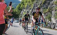 Jurgen van den Broeck (BEL/LottoNL-Jumbo) up the Foza climb (1086m)<br /> <br /> Stage 20: Pordenone › Asiago (190km)<br /> 100th Giro d'Italia 2017
