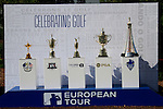 Major Tropies on display during Day 1 of the Dubai World Championship, Earth Course, Jumeirah Golf Estates, Dubai, 25th November 2010..(Picture Eoin Clarke/www.golffile.ie)