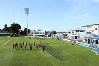 Sunrisers team huddle prior to Sunrisers vs South East Stars, Rachael Heyhoe Flint Trophy Cricket at The Cloudfm County Ground on 13th September 2020
