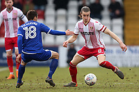 Ben Sheaf of Stevenage and Harry Pickering of Crewe Alexandra during Stevenage vs Crewe Alexandra, Sky Bet EFL League 2 Football at the Lamex Stadium on 10th March 2018