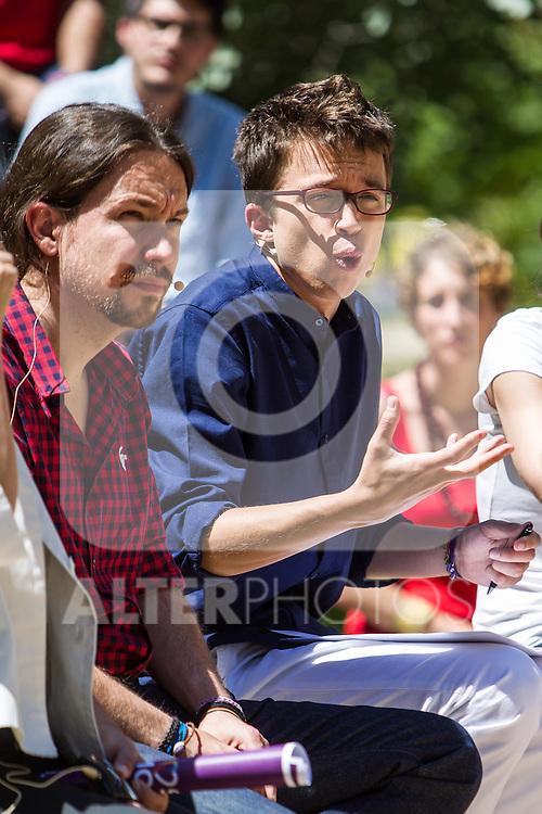 Pablo Iglesias and Inigo Errejon during the presentation of the electioneering of Unidos Podemos. Jun 2,2016. (ALTERPHOTOS/Rodrigo Jimenez)