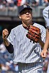 Masahiro Tanaka (Yankees), SEPTEMBER 13, 2015 - MLB : Masahiro Tanaka of the New York Yankees walks back to the dugout after the top of the first inning during the Major League Baseball game against the Toronto Blue Jays at Yankee Stadium in the Bronx, New York, United States. (Photo by Hiroaki Yamaguchi/AFLO)