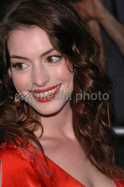 1June 2005 - New York, New York - Anne Hathaway arrives at the New York premiere of, &quot;Cinderella Man&quot; at the Loews Lincoln Square Theater. <br />