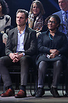 Tony Goldwyn and Lynne Nottage during the Second Stage Theater Broadway lights up the Hayes Theatre at the Hayes Theartre on February 5, 2018 in New York City.