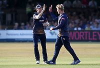 Simon Harmer of Essex celebrates taking the wicket of Max Holden during Essex Eagles vs Middlesex, Vitality Blast T20 Cricket at The Cloudfm County Ground on 6th July 2018
