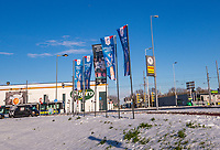 Rotterdam, Netherlands, December 12, 2017, Topsportcentrum, Ned. Loterij NK Tennis,  outside flaggs<br /> Photo: Tennisimages/Henk Koster