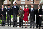 Spanish Royals King Felipe VI of Spain, Queen Letizia of Spain, awarded writer Juan Goytisolo, Madrid President Ignacio Gonzalez and Culture Minister Ignacio Wert during `2014 Cervantes Award´ at Alcala de Henares University in Alcala de Henares, Spain. April 23, 2015. (ALTERPHOTOS/Victor Blanco)