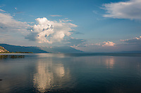 Makedonien. Udstigt over Ohridsøen fra vejen mellem Struga og Ohrid. Foto: Jens Panduro