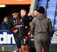 Lincoln City's Tyreece John-Jules during the pre-match warm-up<br /> <br /> Photographer Andrew Vaughan/CameraSport<br /> <br /> The EFL Sky Bet League One - Shrewsbury Town v Lincoln City - Saturday 11th January 2020 - New Meadow - Shrewsbury<br /> <br /> World Copyright © 2020 CameraSport. All rights reserved. 43 Linden Ave. Countesthorpe. Leicester. England. LE8 5PG - Tel: +44 (0) 116 277 4147 - admin@camerasport.com - www.camerasport.com