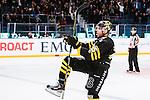 Stockholm 2014-03-21 Ishockey Kvalserien AIK - R&ouml;gle BK :  <br /> AIK:s Derek Joslin jublar efter att ha kvitterat till 1-1<br /> (Foto: Kenta J&ouml;nsson) Nyckelord: jubel gl&auml;dje lycka glad happy