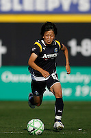 Aya Miyama (8) of the Los Angeles Sol. The Los Angeles Sol defeated Sky Blue FC 2-0 during a Women's Professional Soccer match at TD Bank Ballpark in Bridgewater, NJ, on April 5, 2009. Photo by Howard C. Smith/isiphotos.com
