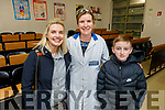Pierce and Linda Lowth from Ardfert with Eileen Enright (Teacher) at the CBS, The Green open night on Thursday