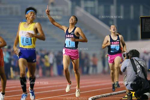 Shun Taue, JULY 30, 2015 - Athletics : 2015 All-Japan Inter High School Championships, Men's Octathlon, 1500m at Kimiidera Athletic Stadium, Wakayama, Japan. (Photo by YUTAKA/AFLO SPORT)